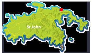 Brown Bay beach map