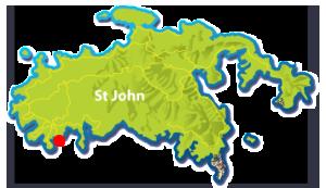 Hart Bay, St John mini map