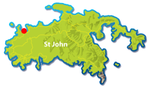 Hawksnest Beach St John map