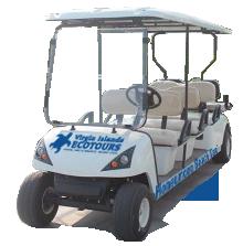 Honeymoon Beach golf cart taxi service