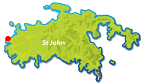 Honeymoon Beach, St John map