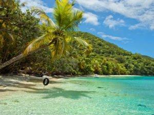 Oppenheimer Beach rope swing St John US Virgin Islands