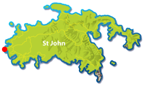 map of frank bay on st john beaches