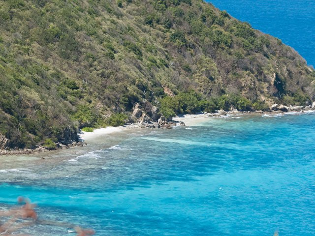 Mennebeck Bay beach, St Johns, East End, USVI