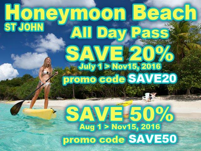 Honeymoon Beach All Day Pass Promo 2016