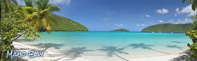 Maho Bay Beach, St John US Virgin Islands top beach