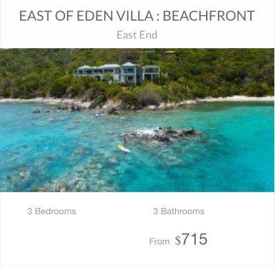 East of Eden St John beachfront vacation rental