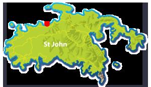Little Cinnamon Bay Beach map, St John, USVI