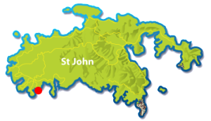 Hart Bay, St John mini map