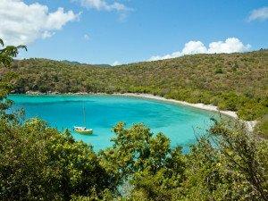 Haulover Beach on St John Virgin Islands