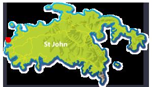 Honeymoon Beach, St John map
