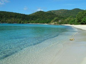 Lameshur Bay beach. Virgin Islands National Park, St John