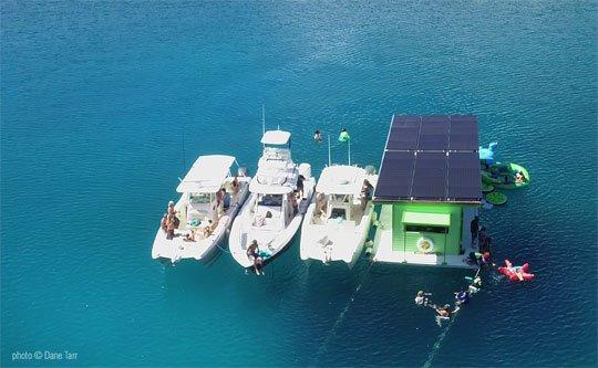 Lime Out VI floating taco bar at Hansen Bay, St John, US Virgin Islands