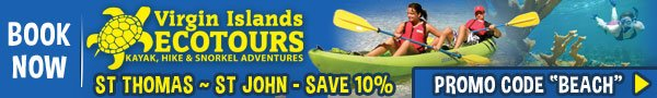St Thomas St John watersports VI Ecotours kayak, hike, snorkel tours