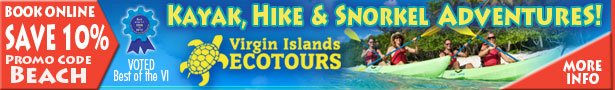 Virgin Islands Eco Tours, kayak, hike, snorkel, St Thomas, St John