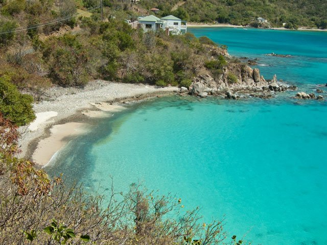 info and guide to Limetree Cove beach on St Johns East End, USVI